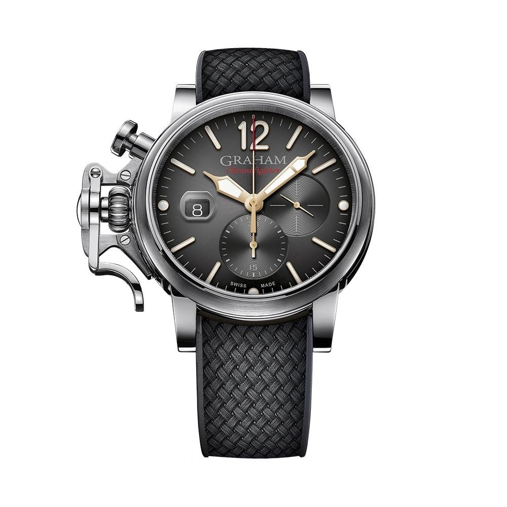 Graham Chronofighter Grand Vintage Black Rubber - Watches & Crystals