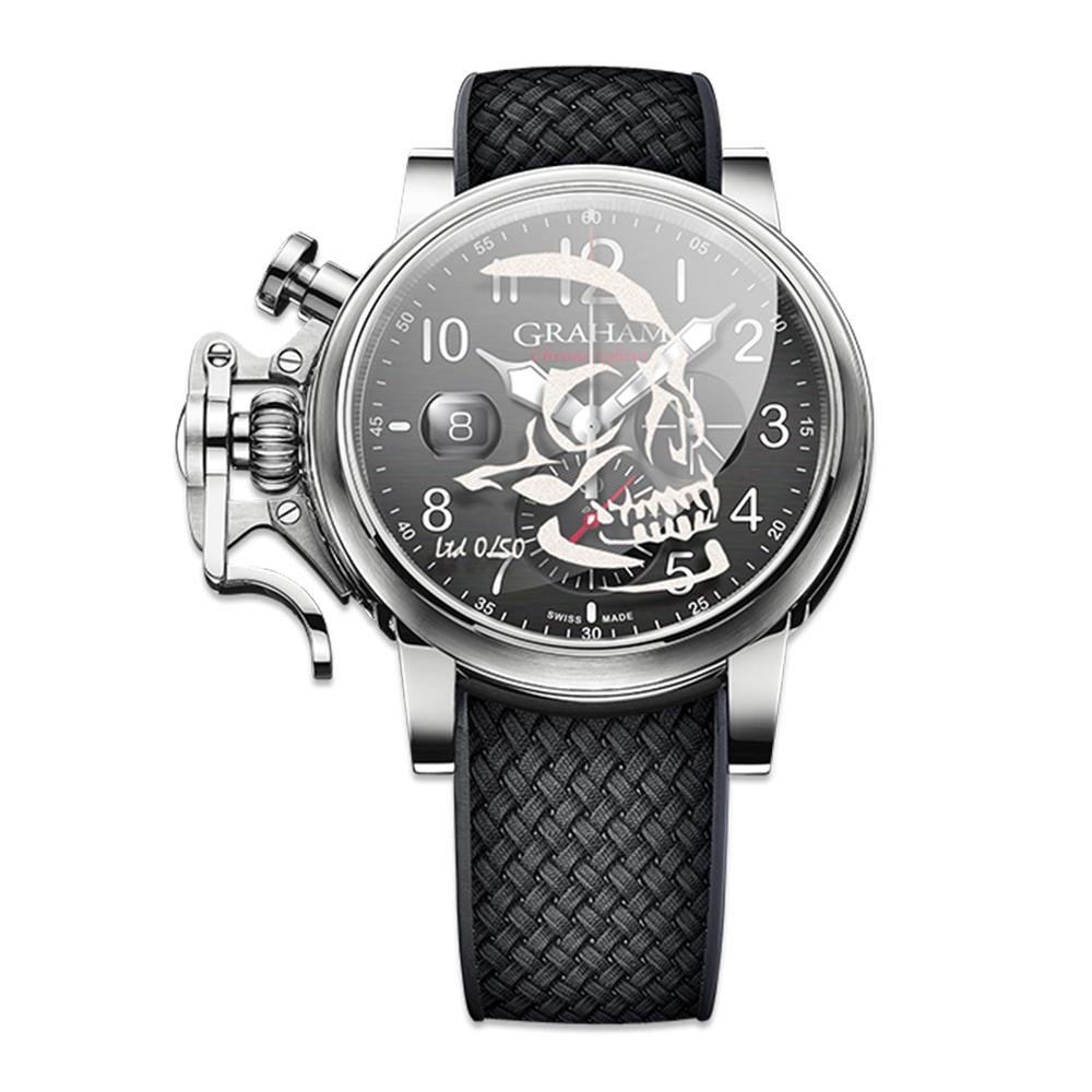 Graham Chronofighter Grand Vintage Black Skull Limited Editions - Watches & Crystals