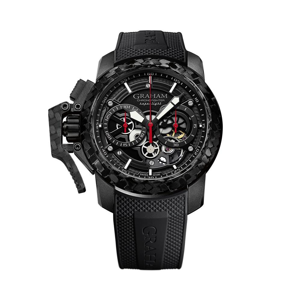 Graham Chronofighter Skeleton Black Rubber - Watches & Crystals