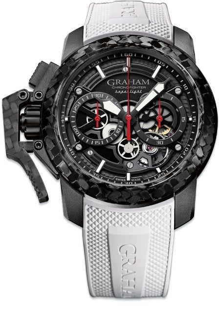 Graham Chronofighter Skeleton White Rubber - Watches & Crystals