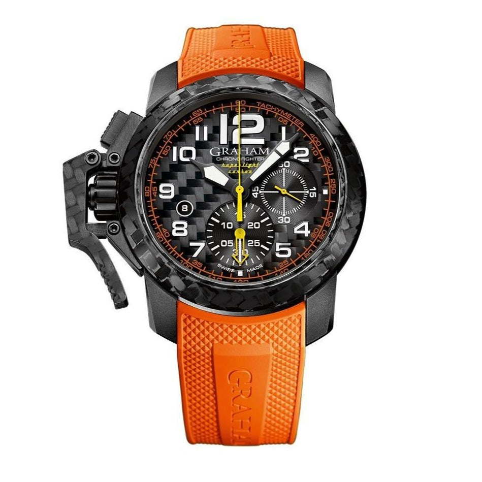 Graham Chronofighter Superlight Orange Rubber - Watches & Crystals