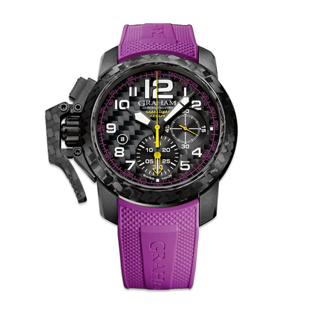 Graham Chronofighter Superlight Purple Rubber - Watches & Crystals