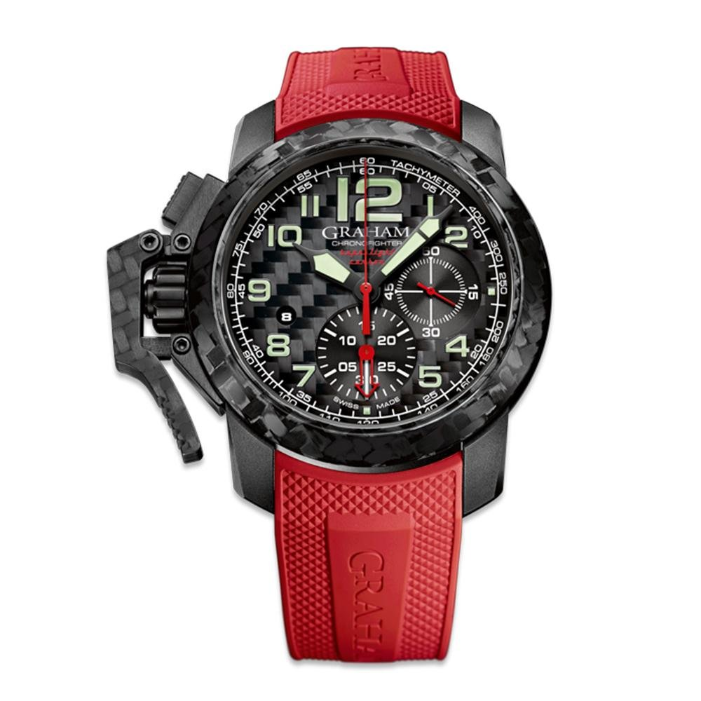 Graham Chronofighter Superlight Red Rubber - Watches & Crystals