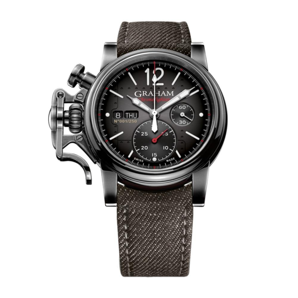 Graham Chronofighter Vintage Aircraft 44MM Black - Watches & Crystals