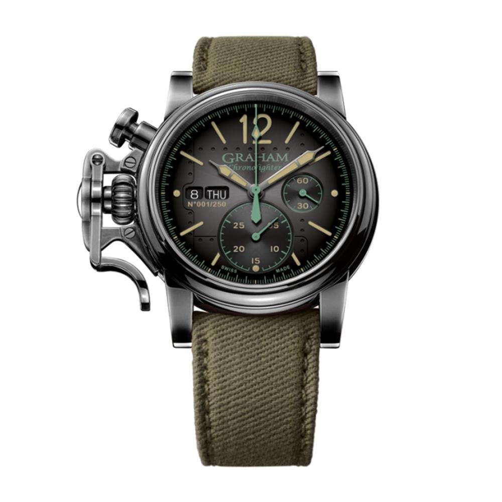 Graham Chronofighter Vintage Aircraft Black - Watches & Crystals