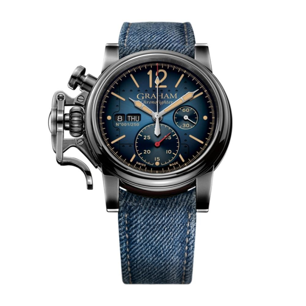 Graham Chronofighter Vintage Aircraft Blue - Watches & Crystals