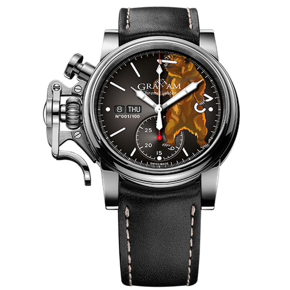 Graham Chronofighter Vintage Black Bear Limited Editions - Watches & Crystals