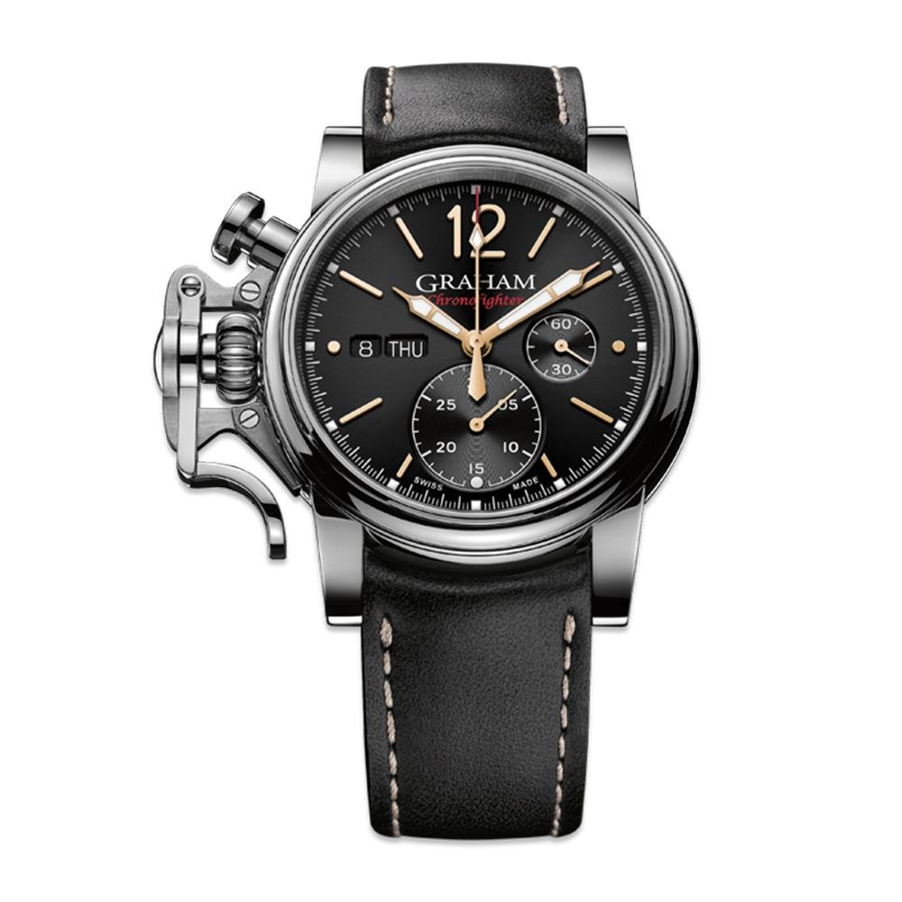 Graham Chronofighter Vintage Black Dial - Watches & Crystals