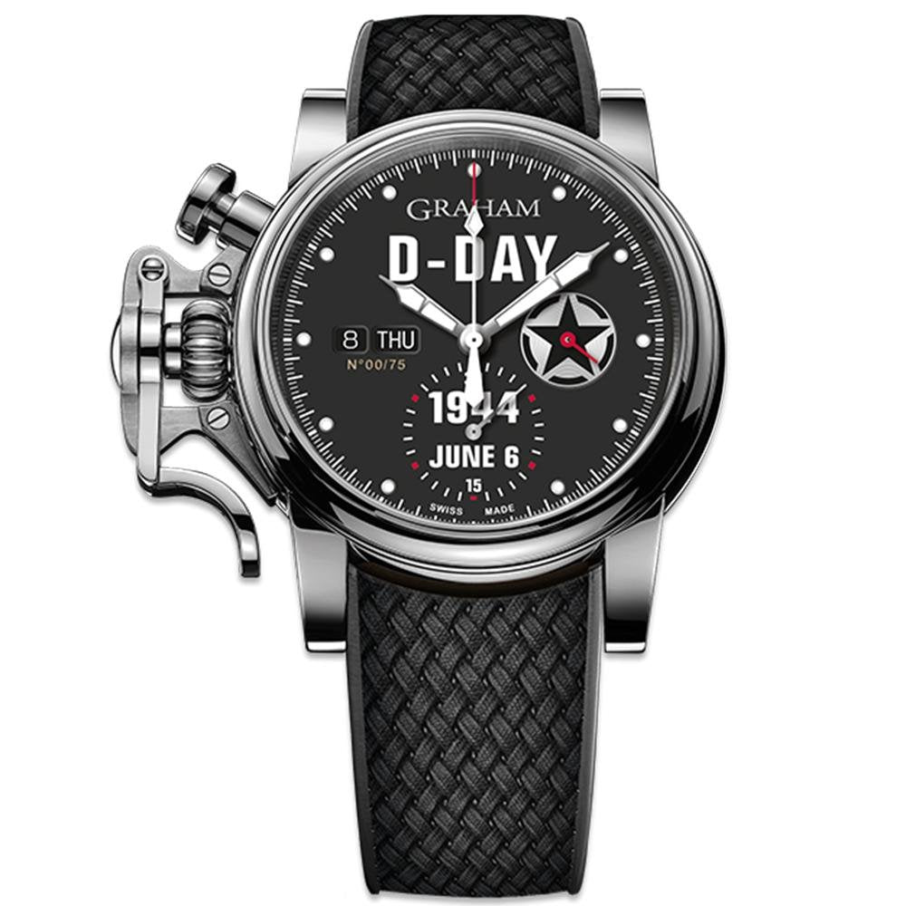 Graham Chronofighter Vintage Black Rubber Limited Editions - Watches & Crystals