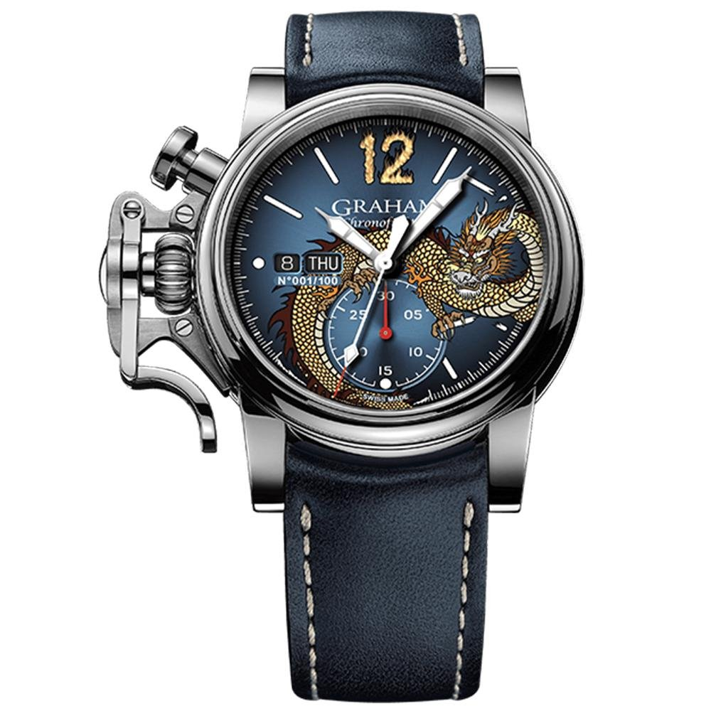 Graham Chronofighter Vintage Blue Dragon Limited Editions - Watches & Crystals