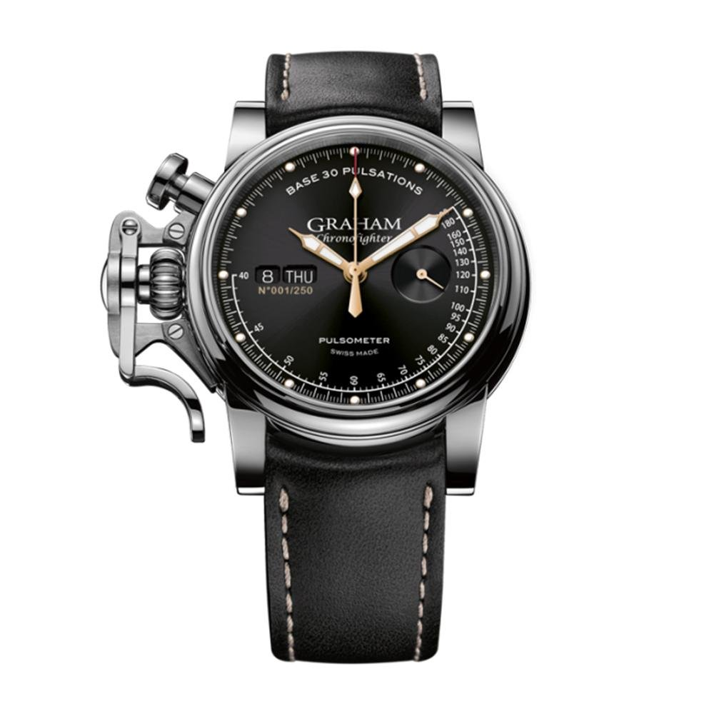 Graham Chronofighter Vintage Pulsometer Black - Watches & Crystals