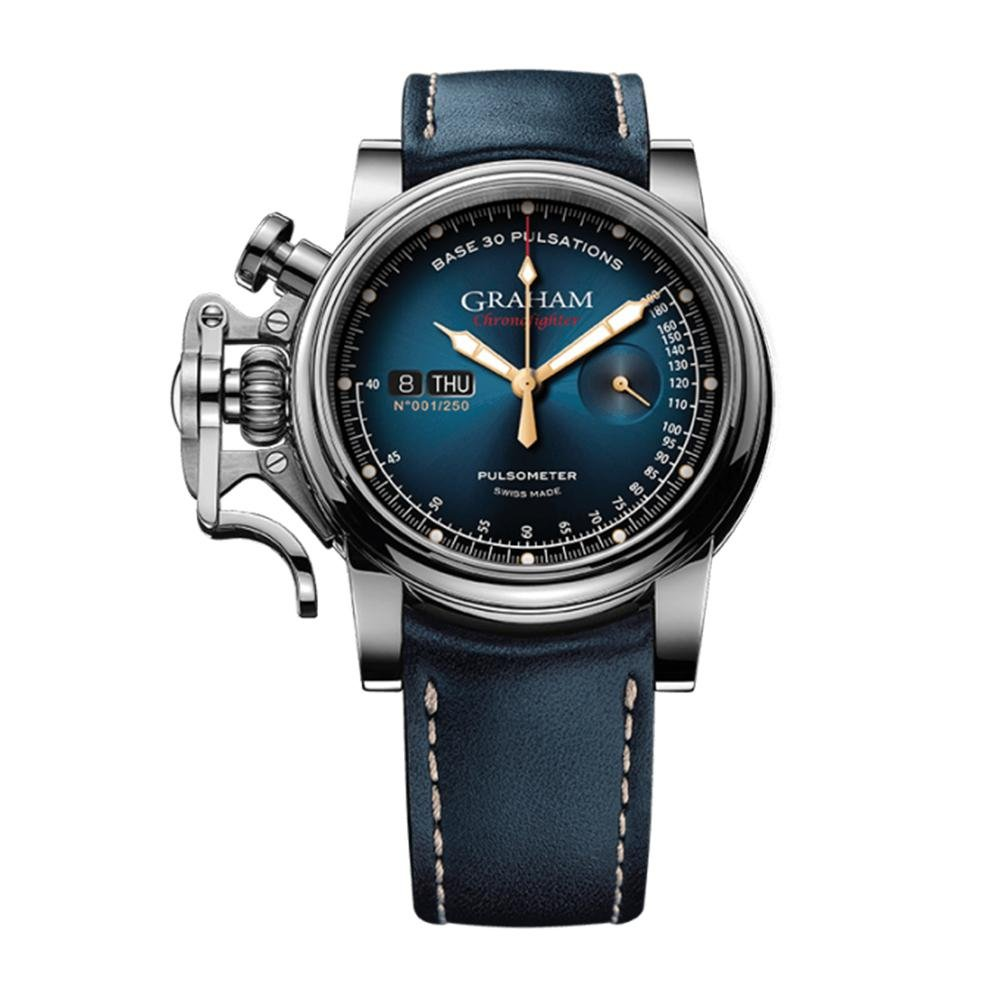 Graham Chronofighter Vintage Pulsometer Blue - Watches & Crystals