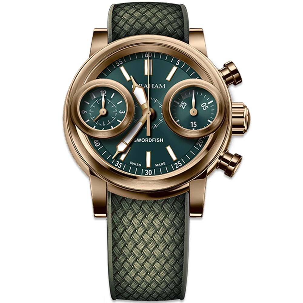 Graham Swordfish Bronze Green Dial - Watches & Crystals
