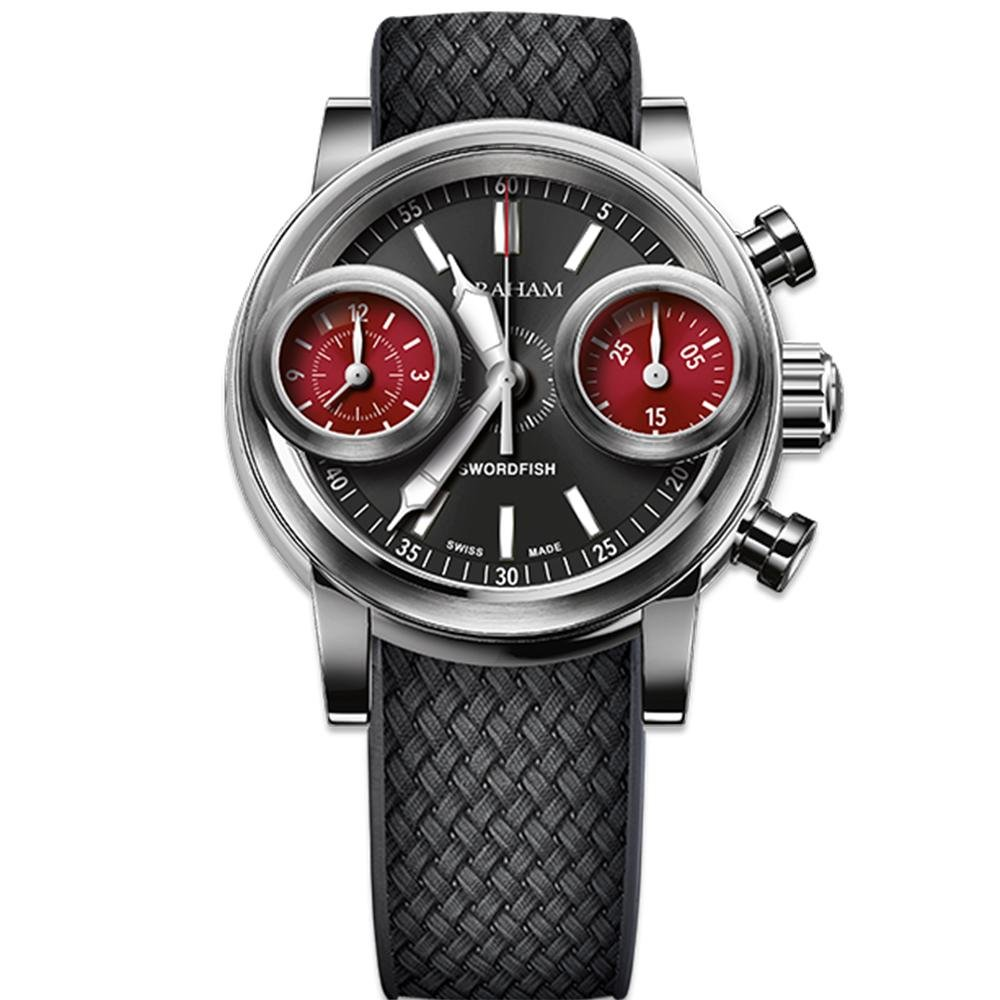 Graham Swordfish Stainless Steel Black Dial - Watches & Crystals