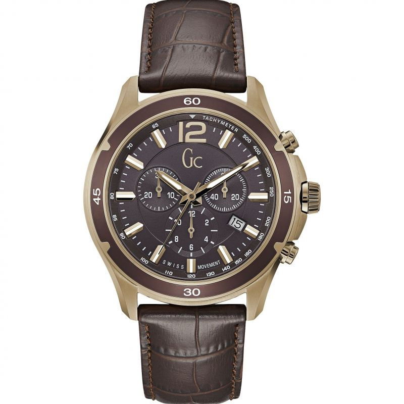 Guess Collection Alumination Men's Chronograph Watch Gold - Watches & Crystals