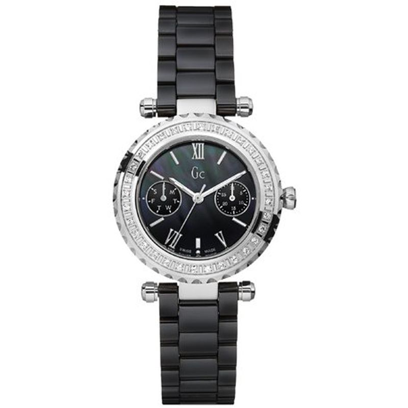 Guess Collection Diver Chic Day Date Diamond Ladies Watch - Watches & Crystals
