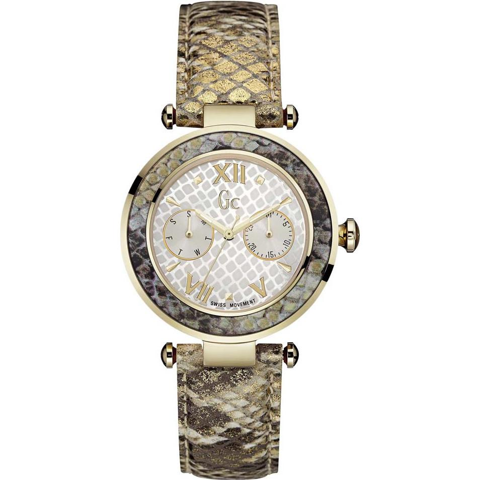 Guess Collection Diver Chic Day Date Ladies Watch Snakeskin - Watches & Crystals