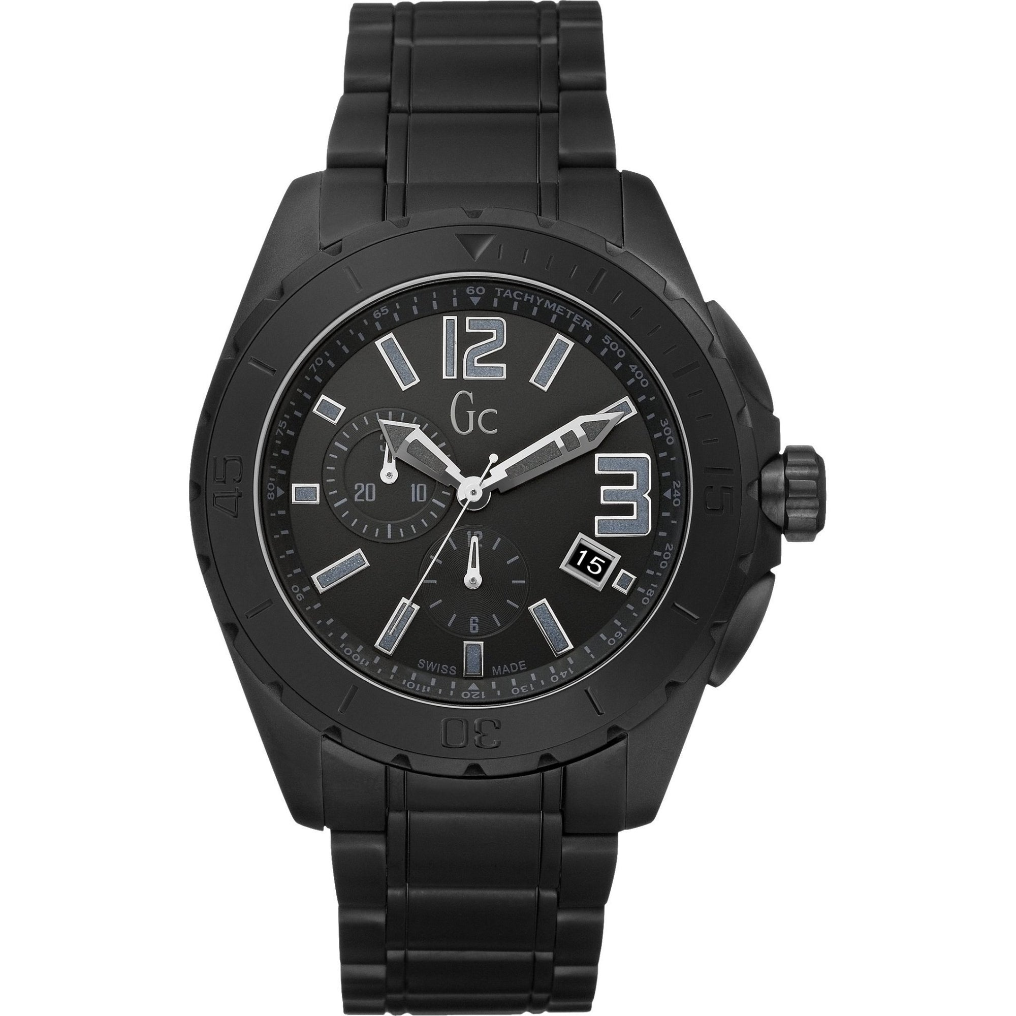 Guess Collection Sport Class XXL Chronograph Black Ceramic - Watches & Crystals