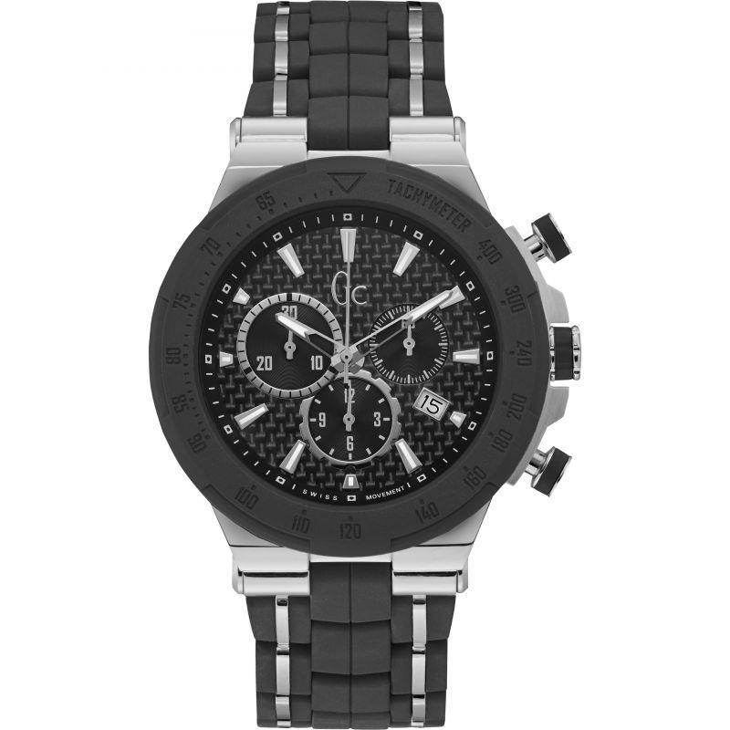 Guess Collection Structura Men's Chronograph Watch Black - Watches & Crystals