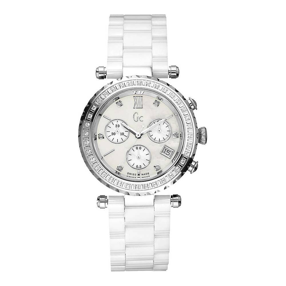 Guess Collection Swiss Precious Chronograph Watch Ceramic - Watches & Crystals