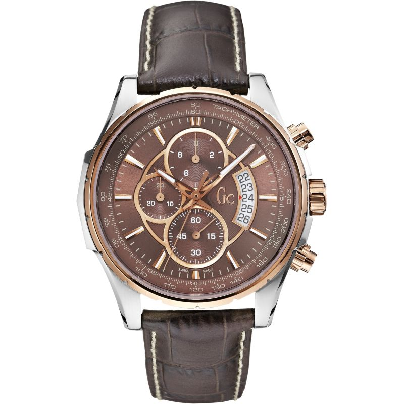 Guess Collection TechnoClass Men's Chronograph Watch Two Tone - Watches & Crystals
