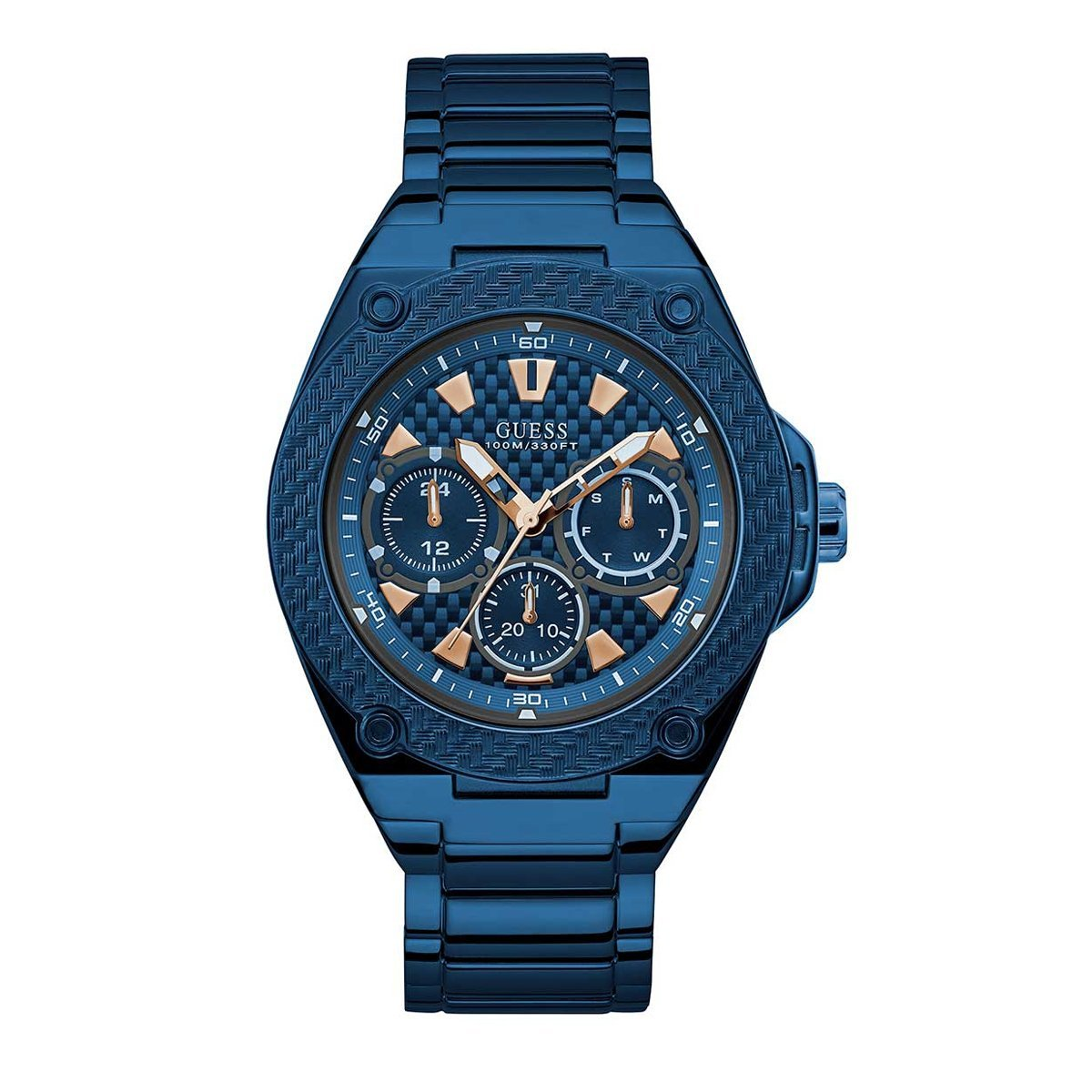 Guess Legacy Day Date Blue - Watches & Crystals