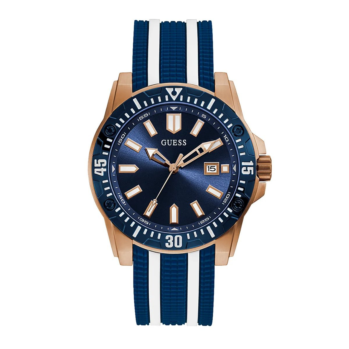 Guess Skipper Blue Rose Gold - Watches & Crystals