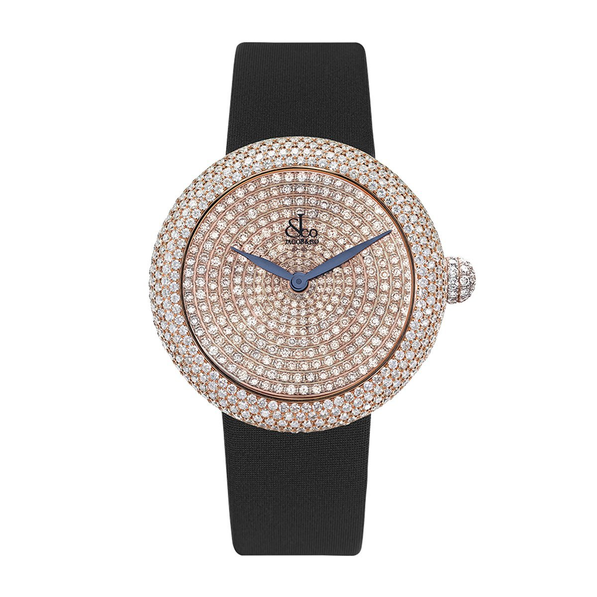 Jacob & Co. Brilliant Pave 38 Rose Gold - Watches & Crystals