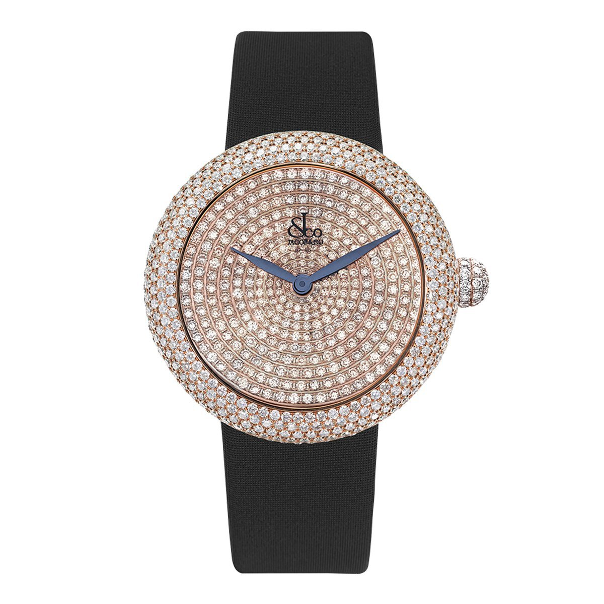 Jacob & Co. Brilliant Pave 44 Rose Gold - Watches & Crystals