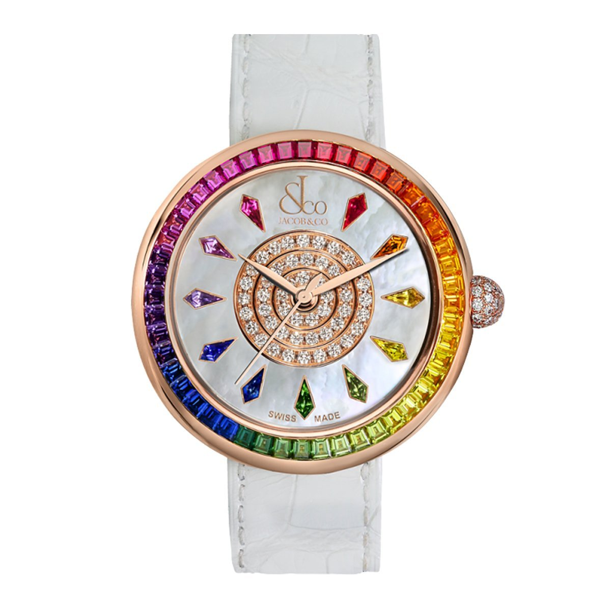 Jacob & Co. Brilliant Rainbow Rose Gold - Watches & Crystals