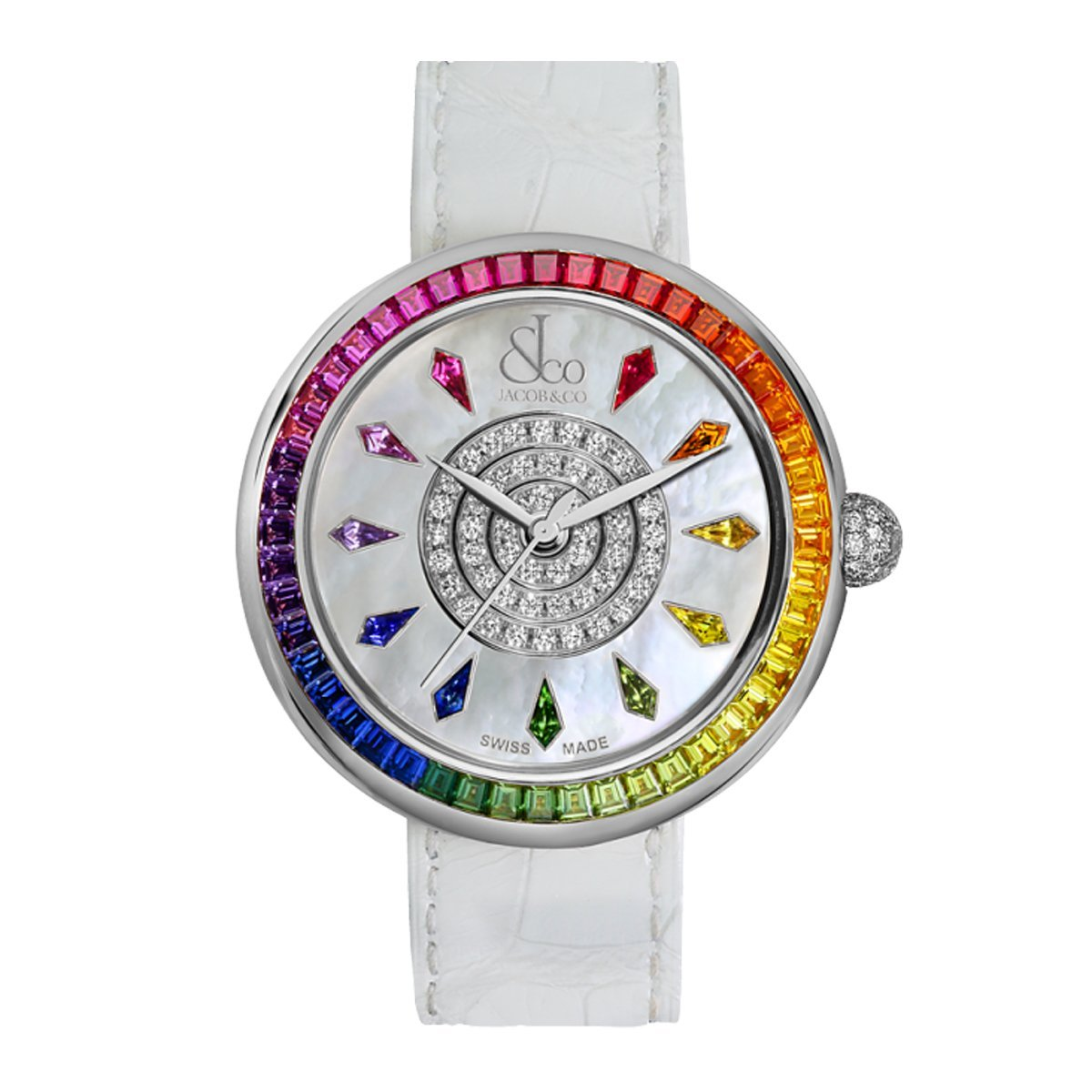 Jacob & Co. Brilliant Rainbow White Gold - Watches & Crystals