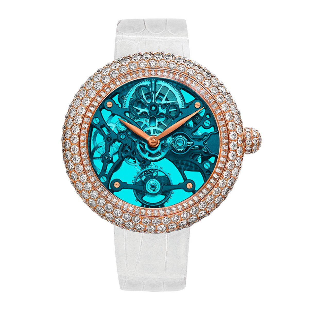 Jacob & Co. Brilliant Skeleton Northern Lights Blue - Watches & Crystals