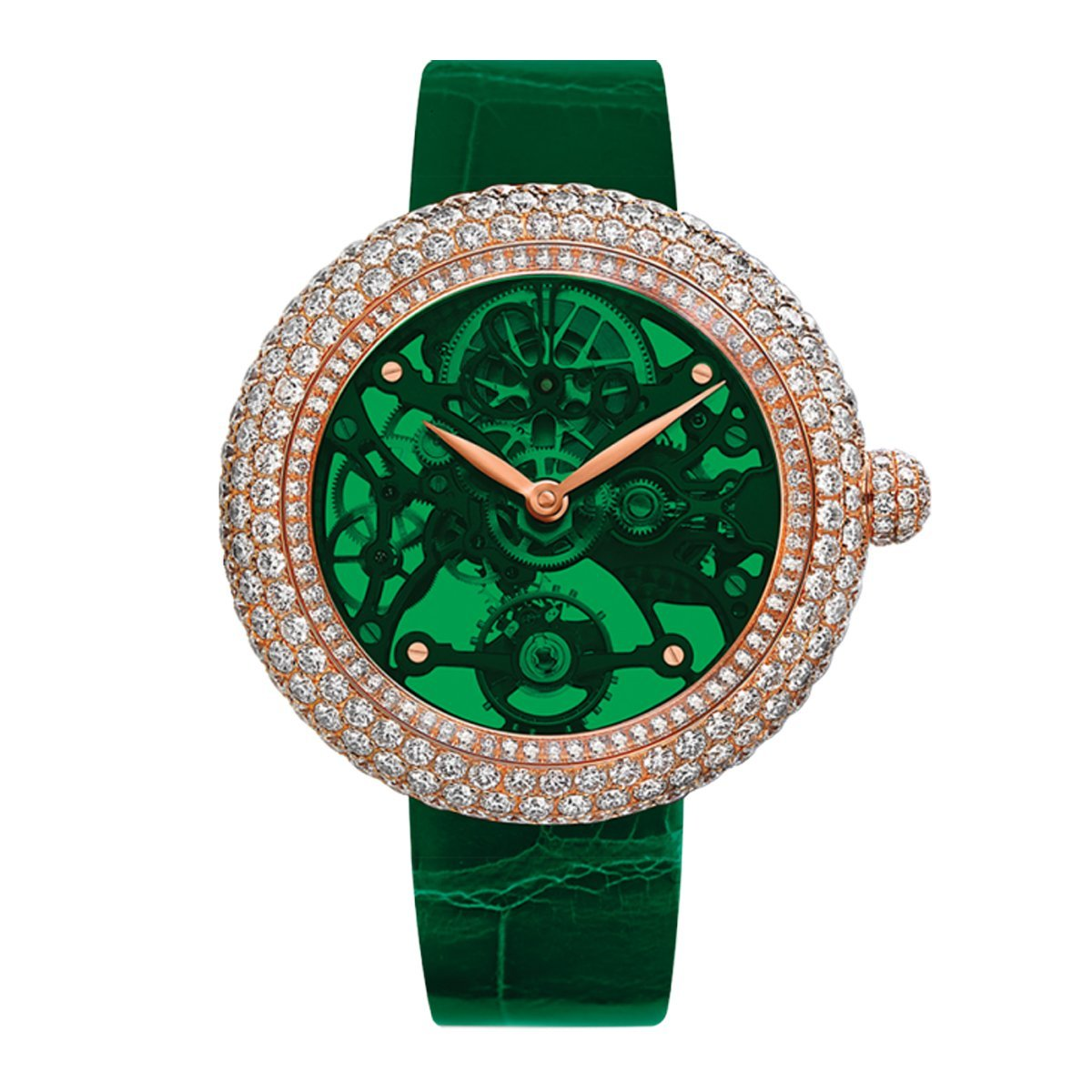 Jacob & Co. Brilliant Skeleton Northern Lights Green - Watches & Crystals