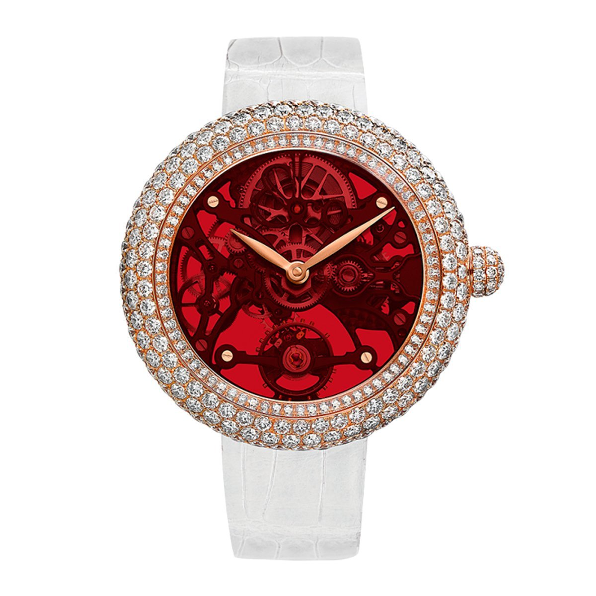 Jacob & Co. Brilliant Skeleton Northern Lights Red - Watches & Crystals