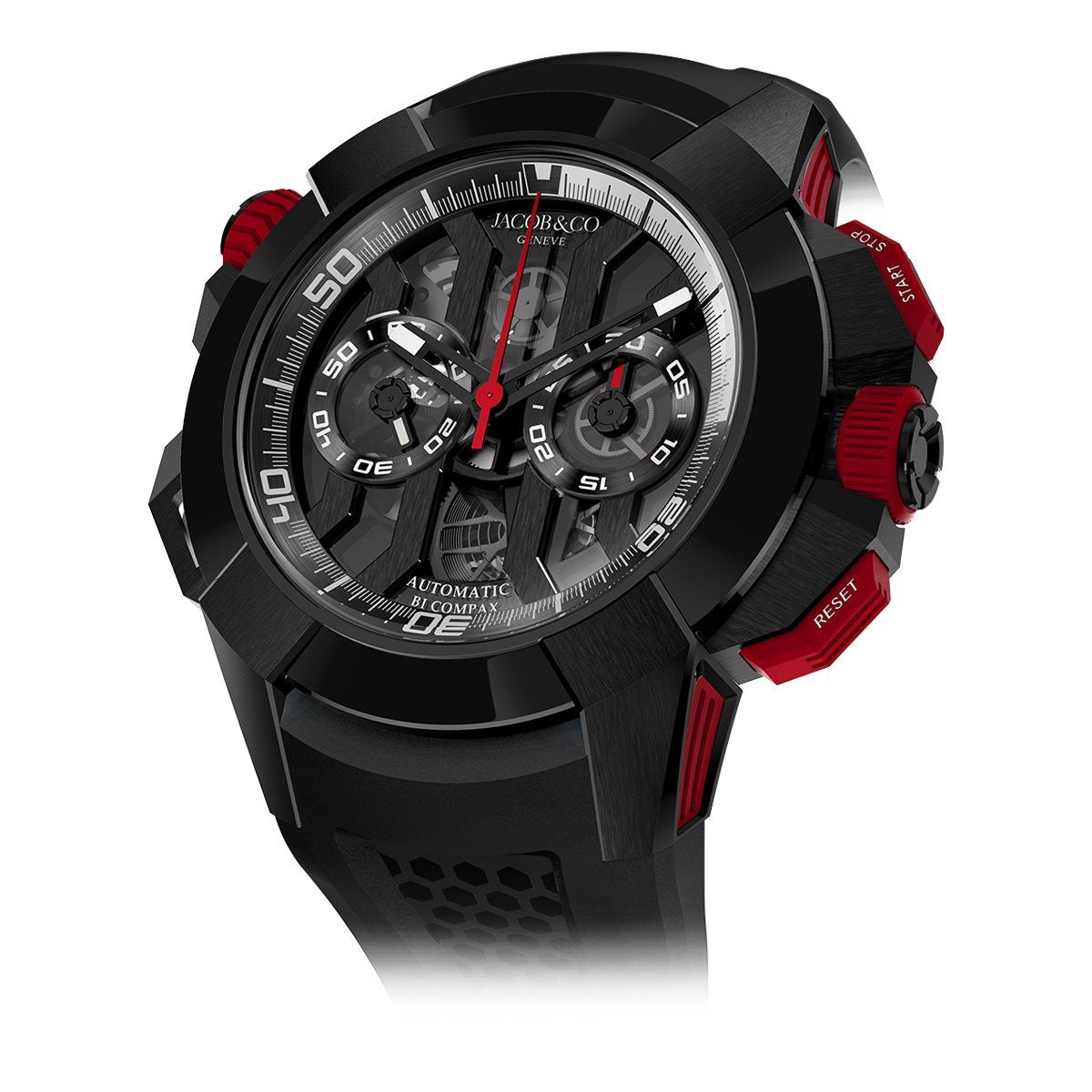 Jacob & Co. Epic X Chronograph Black DLC Red - Watches & Crystals