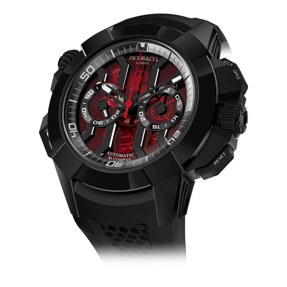 Jacob & Co. Epic X Chronograph Black DLC Red Dial - Watches & Crystals