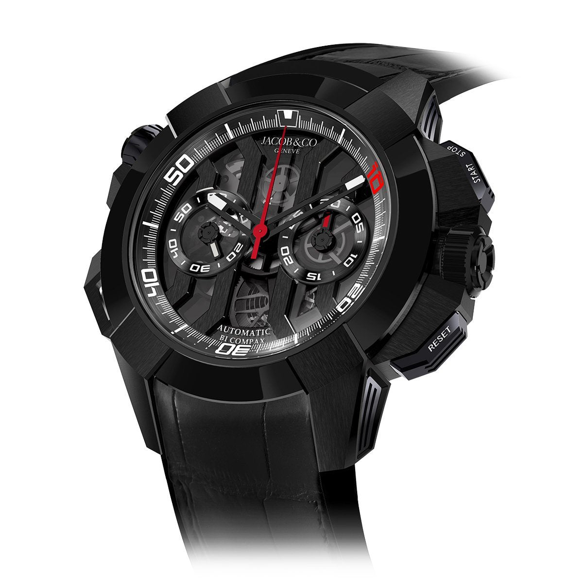 Jacob & Co. Epic X Chronograph Luis Figo Black Titanium - Watches & Crystals