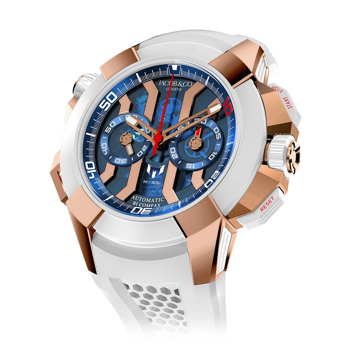 Jacob & Co. Epic X Chronograph Messi Rose Gold - Watches & Crystals