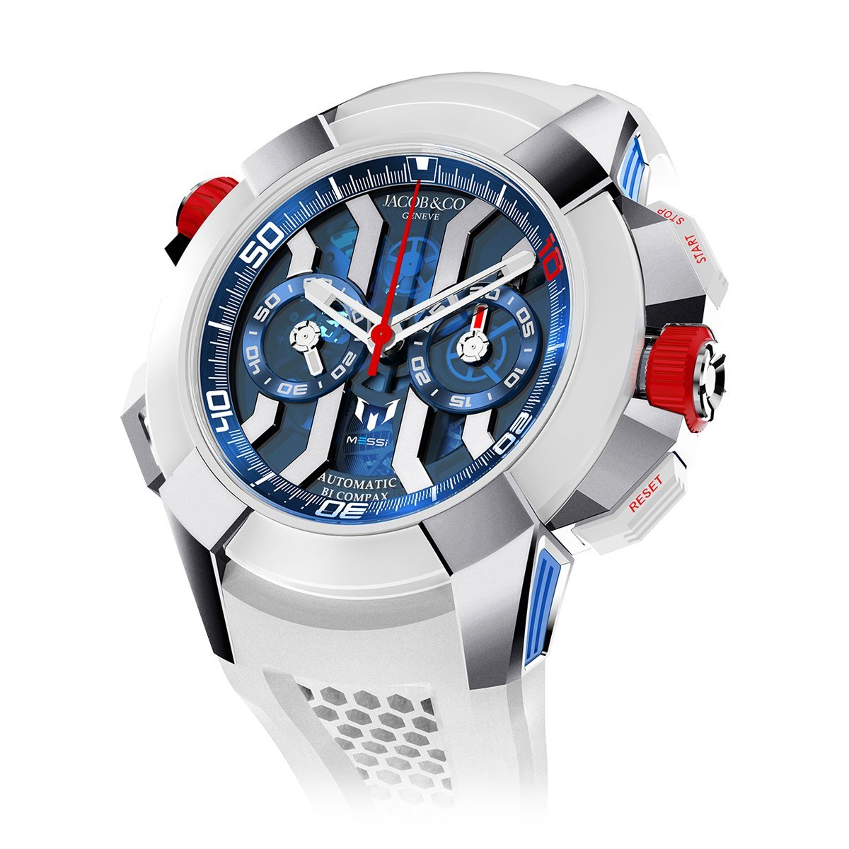 Jacob & Co. Epic X Chronograph Messi Titanium - Watches & Crystals