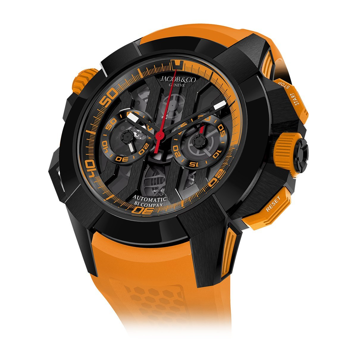 Jacob & Co. Epic X Chronograph Orange - Watches & Crystals