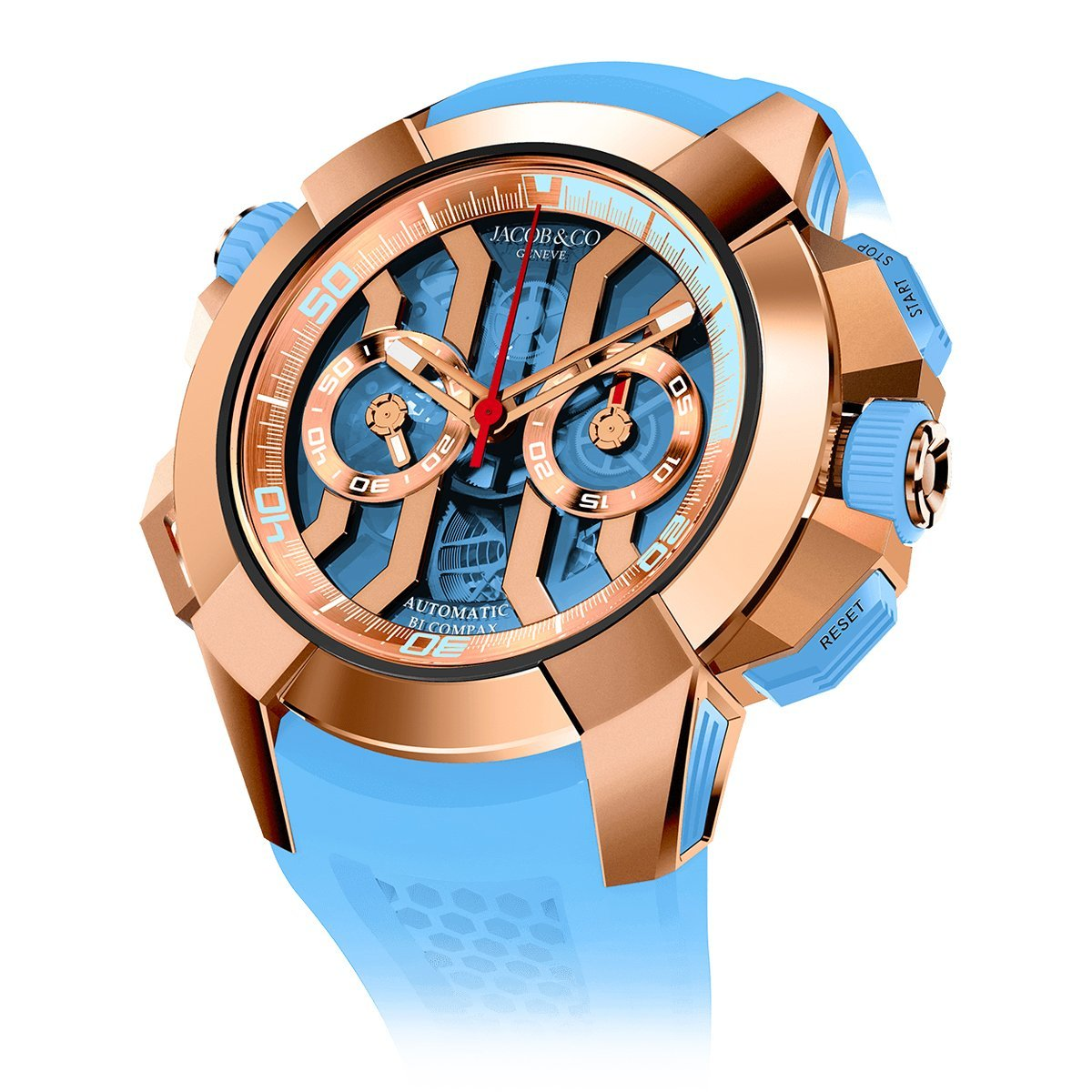 Jacob & Co. Epic X Chronograph Sky Blue - Watches & Crystals