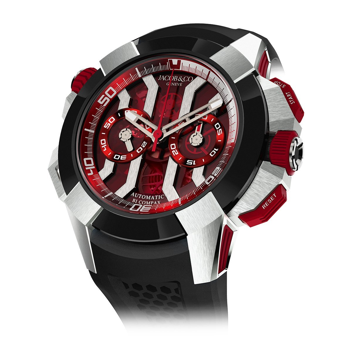 Jacob & Co. Epic X Chronograph White Red - Watches & Crystals