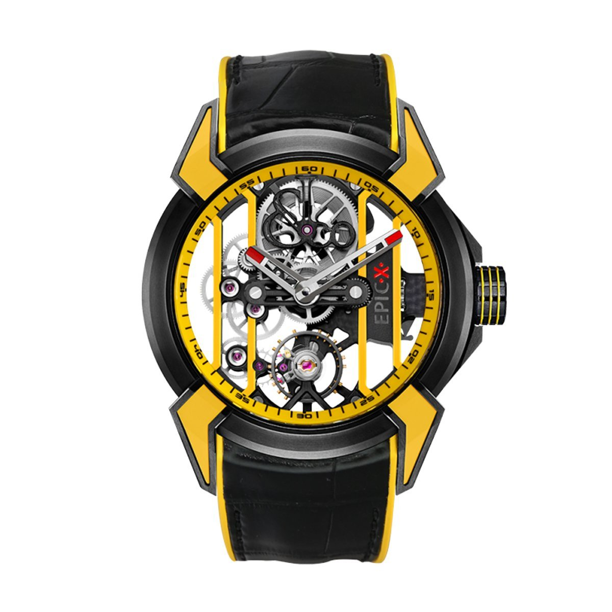 Jacob & Co. Epic X Racing Black DLC Yellow - Watches & Crystals