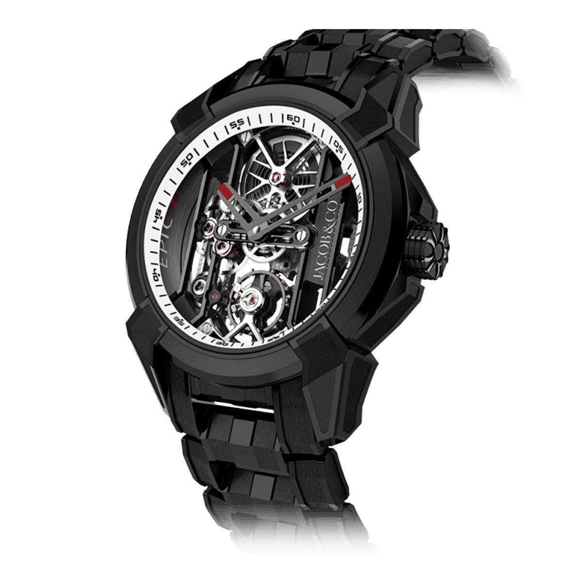 Jacob & Co. Epic X Skeleton Black DLC Bracelet White - Watches & Crystals