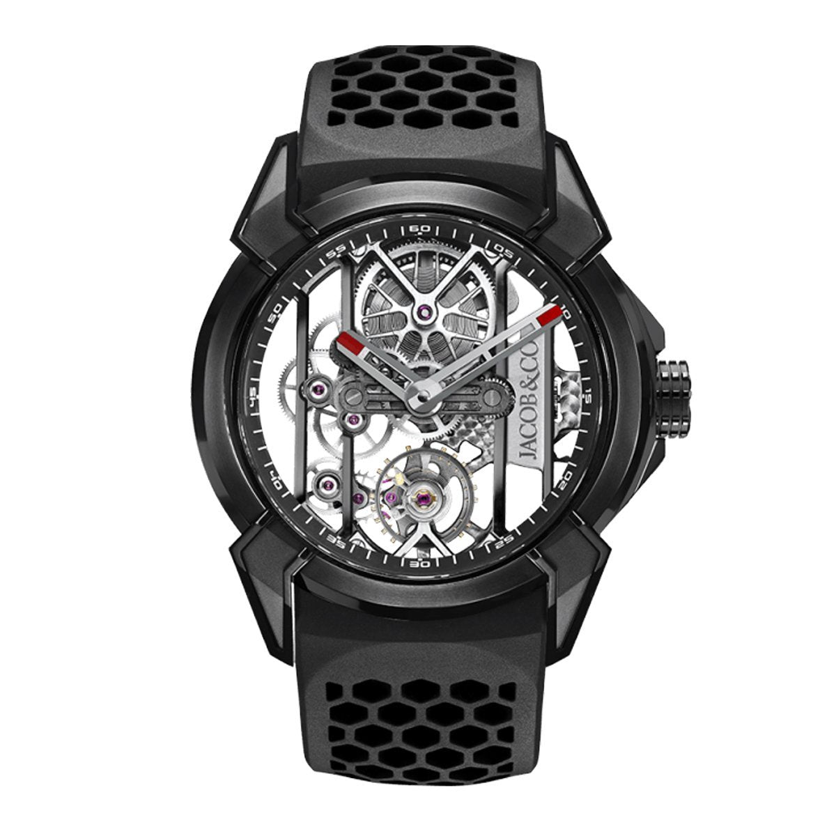 Jacob & Co. Epic X Skeleton Black DLC Titanium - Watches & Crystals