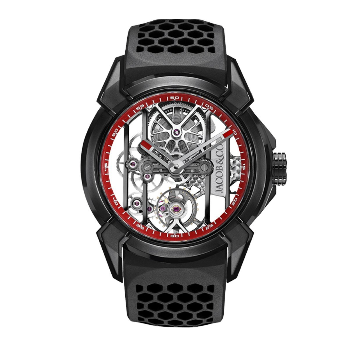 Jacob & Co. Epic X Skeleton Black DLC Titanium Red - Watches & Crystals