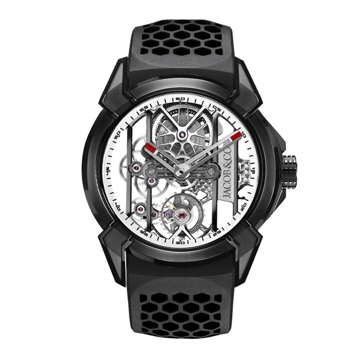 Jacob & Co. Epic X Skeleton Black DLC Titanium White - Watches & Crystals