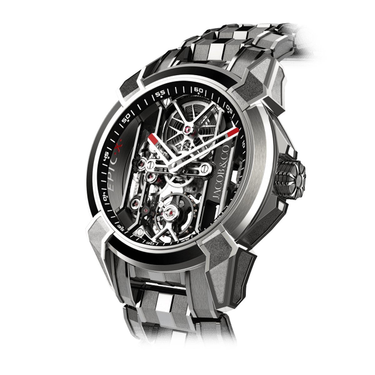 Jacob & Co. Epic X Skeleton Titanium Bracelet Black - Watches & Crystals