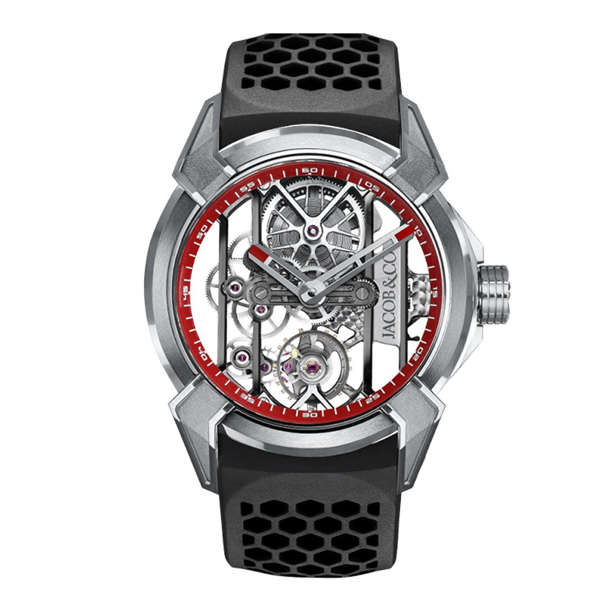 Jacob & Co. Epic X Skeleton Titanium Red - Watches & Crystals