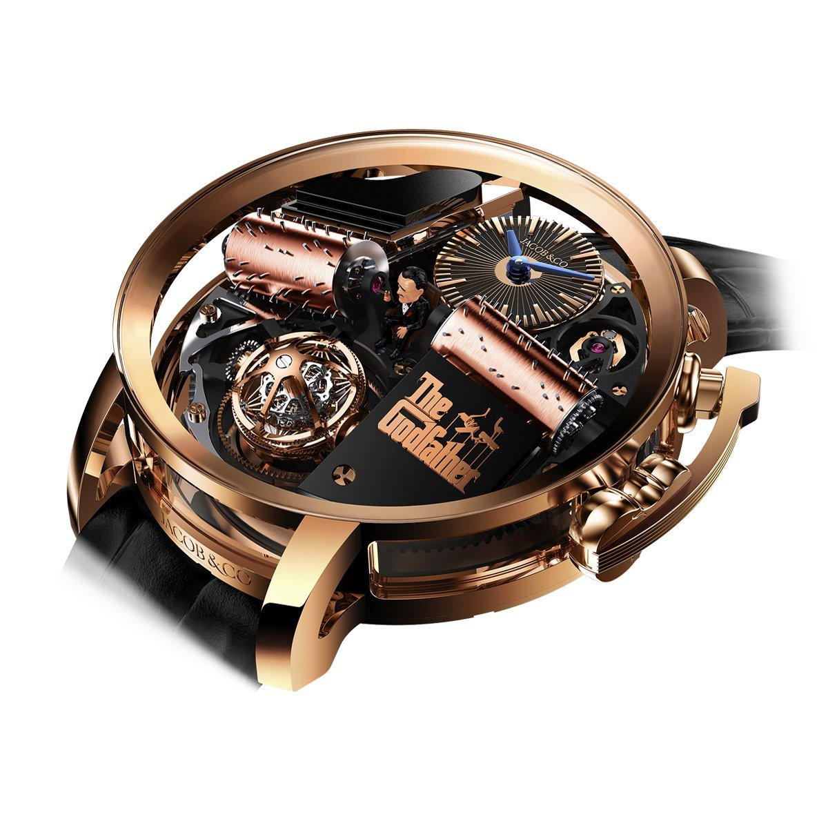 Jacob & Co. Opera Godfather Musical Watch Rose Gold - Watches & Crystals